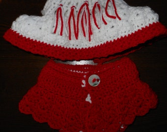 Baby girl diaper cover set