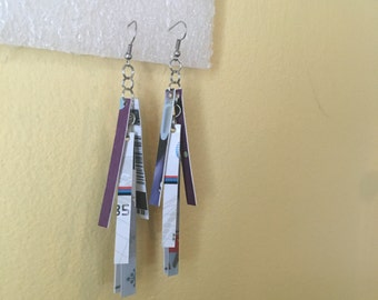 The Business Pair (Recycled Credit Card Earrings)