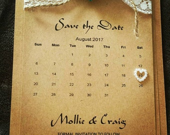 Rustic Save the Dates Cards *Sample Listing*