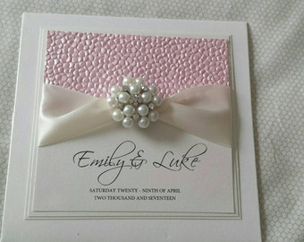 Sequin Folded Pocket Card Wedding Invitation with RSVP card. Available in Other Colours to Match your Wedding Theme *Sample Listing Only*