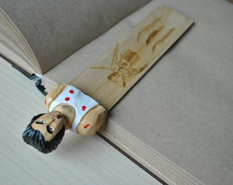 Wolverine X-men art, wooden bookmark, wolverine design, wolverine art, X-men art, X-men design, gift for him, gift for her, unique gift, art