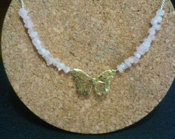 Butterfly focal necklace