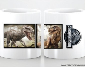JURASSIC WORLD custom ceramic mug. Great for any occasion