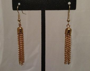 Nickel Free Chain Tassel Earrings