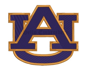 Auburn Tigers 9 Size Embroidery Designs College Football Logos Machine Embroidery Pattern