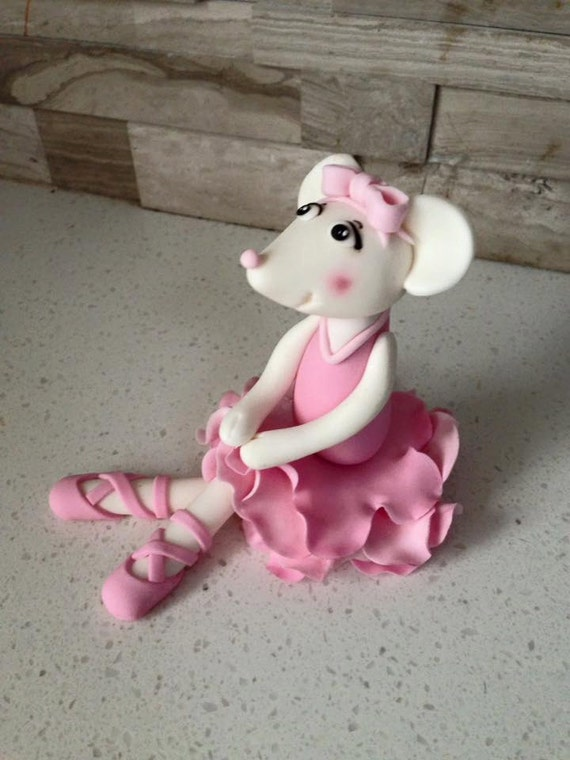 Angelina ballerina cake topper by fondantfeatures on etsy for Angelina ballerina edible cake topper decoration sale