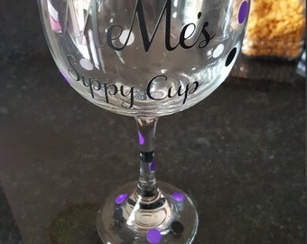 Custom Wine Glass - MeMe's Sippy Cup