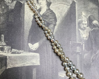 Graduated Vintage Glass Pearls in Silver - 120 Pieces  - #758