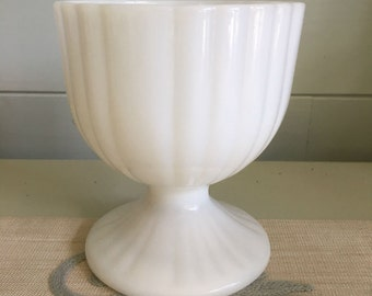 Milk Glass Footed Vase