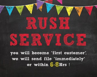 Back to school - RUSH SERVICE- Within 12 hours- Choose how fast you need your file -first day of school