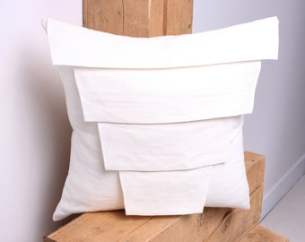 FREE SHIPPING, White Linen Decorative Pillow Cover, White Pillow Covers 20x20, 18x18, 16x16, 24x24