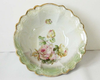 Germany Plate, Roses Pattern