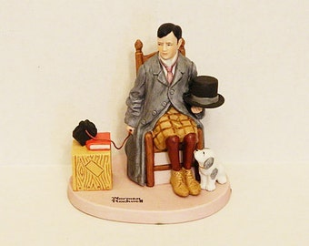 "Norman Rockwell ""Self-Portrait"" Figurine"