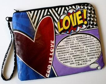 Biblical Love Pop Art Handbag