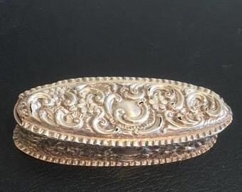 Victorian Sterrling Silver Trinket Box