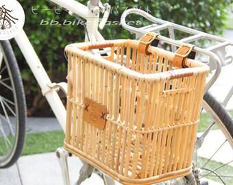 BB.BikeBasket Pannier Wicker Rattan for Folding Touring Citi Bicycle Rear or Front Vintage Handmade Thai