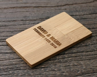 Wooden USB Flash Drive, Personalized Wedding Gift, Bridesmaid Gift, Personalized Wooden USB, Wood USB Drive, LWUSB01