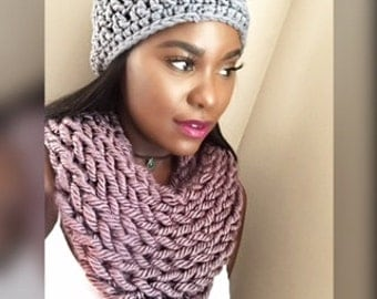 knitted chunky neck warmer, cowl for those brutal winters.