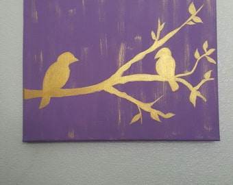 Bird silhouette painting