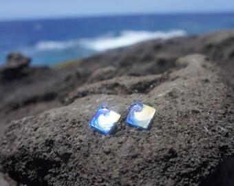 Diamond Hawaiian Wave Earrings