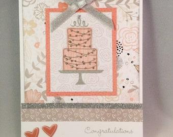 Handmade Wedding Card, Wedding Card, Engagement Card,  Close to My Heart Wedding Card, CTMH Wedding Card, CTMH Engagement Card