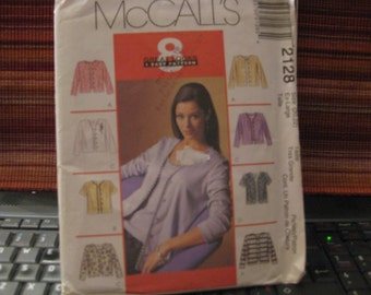 Patterns McCall's 2128 / Cardigan and up for women