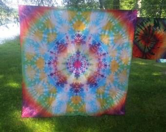 Mandala 6foot tie dye tapestry