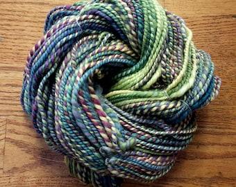 Handspun Yarn/2-ply Aran Weight/132 Yards/8wpi/Merino Wool
