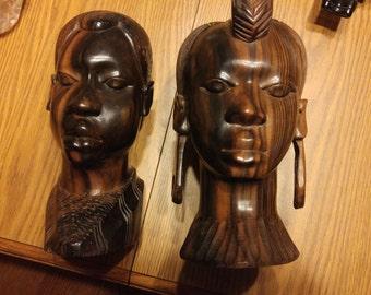 African Bust Set