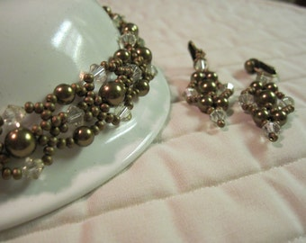 Choker and earring set