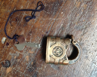 Old boy Yale Lock bronze key