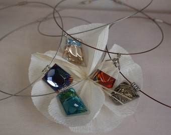 Crystal pendant, Crystal jewelry, Handmade crystal necklaces
