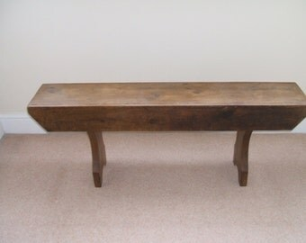 Vintage Upcycled Pine Bench