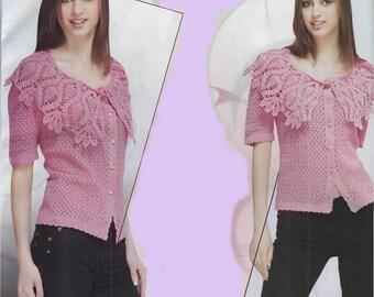 Ladies pink blouse crochet / custom