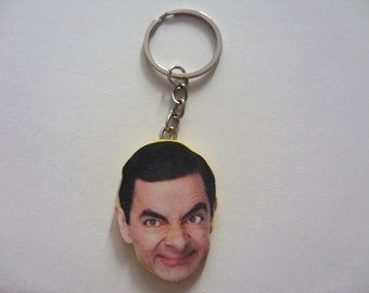 Mr. Bean keychain, key chain, Keychain celebrities, Keychain metal,  for dad Keychain, Keychain polymer clay, original Keychain