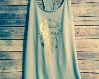 Dream Chaser Racerback Tank Top- Dreamcatcher Women's/Juniors Tank.