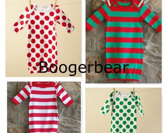 Christmas Pajamas Baby Gown