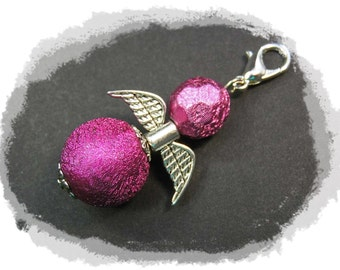 Guardian Angel pink silver Guardian Angel Wings silver
