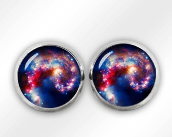 Nebula Stud Earrings Nebula Earrings Nebula Jewelry Space Sci Fi Jewelry