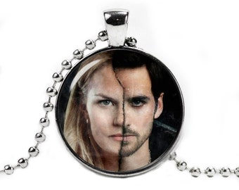 Captain Hook and Emma Swan Necklace Pendant Once upon a time Fandom Jewelry Fangirl Fanboy