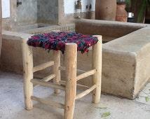 Moroccan stool handmade, tabouret marocain, Moroccan bench, bohochic Berber,Berber stool, handmade, straw stool,bohemian, Marrakech stool