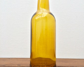 Vintage amber glass bottle