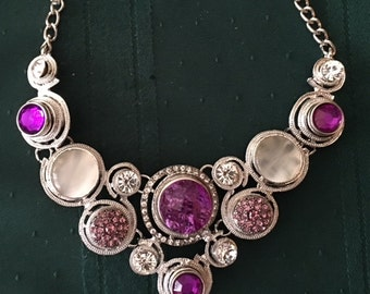 New Pink/purple snap necklace for women and teens