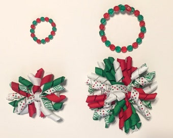 20% OFF! -- Christmas Girl and Doll Matching Bow and Bracelets!