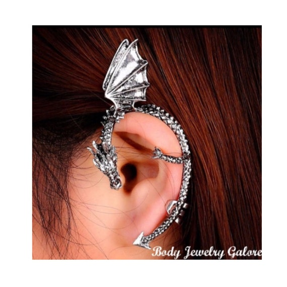 Dragon wing ear cuff wrap game of thrones by bodyjewelrygalore - Game of thrones dragon ear cuff ...