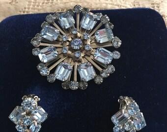 Vintage Light Blue Jewelry Set (square)