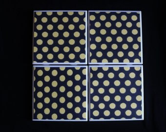 Moon Coasters ~ Halloween Coasters ~ Polka Dot Coasters ~ Everyday Coasters ~ Housewarming Gift ~ Cool Crazy Crafting~ Teacher Gift