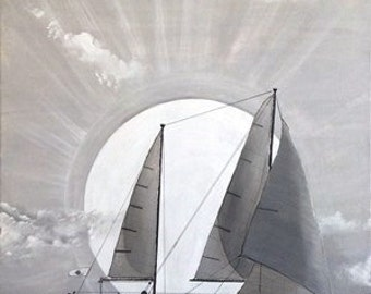 The sailboat / acrylic paint