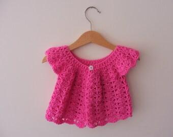 Girl's Crocheted Cardigan