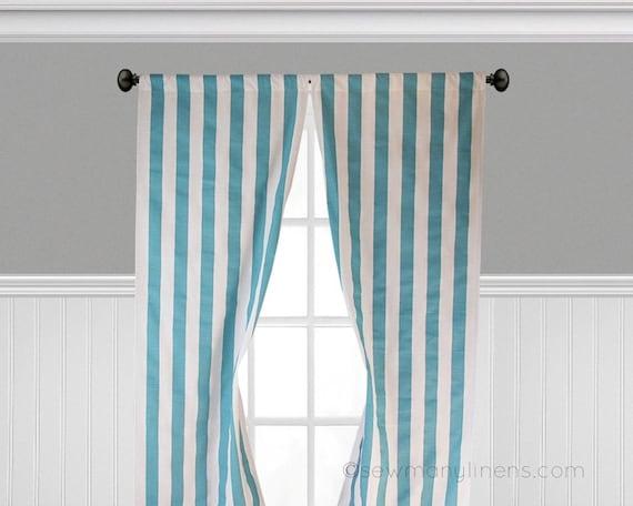 Aqua Blue Curtains Turquoise Coastal Blue Window Treatments